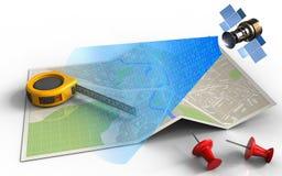 signal numérique 3d satellite Images libres de droits