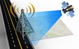 signal numérique 3d satellite Photos stock