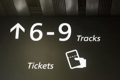 The signal output to the trains at the station. Stock Photography