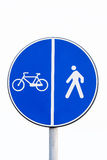 Signal  pedestrians and bicycles Royalty Free Stock Photos