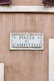 Signal piazza Campitelli in Rome Royalty Free Stock Photos