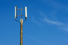 Signal pole in the sky Stock Image