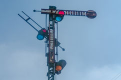 Signal of the railway royalty free stock image