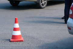 Signal road cone Royalty Free Stock Images