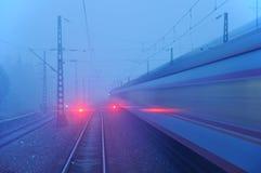 Signal rouge de train images libres de droits