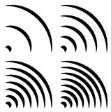 Signal shapes, generic quarter circles, bent lines with differen Stock Images