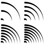 Signal shapes, generic quarter circles, bent lines with differen Royalty Free Stock Photo