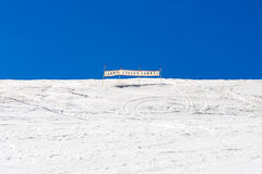 Signal in ski slope. In Catalonia (Spain Stock Photos