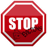 Signal STOP Evictions. Illustration of a Signal STOP Evictions Royalty Free Stock Images