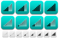 Signal Strength Indicator icons. Eps 10 Vector Illustration of Signal Strength Indicator icons Royalty Free Stock Photography