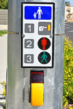 Signal system at the pedestrian crossing Stock Images