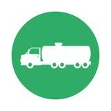 Signal of tank car for gasoline image. Illustration design Royalty Free Stock Photo