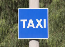 Signal taxi rank Stock Photo