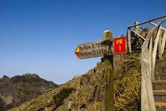 Signal to Pico Ruivo Royalty Free Stock Image