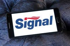 Signal toothpaste logo Stock Photos