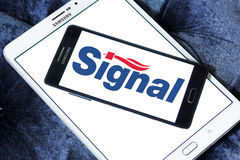 Signal toothpaste logo Stock Images