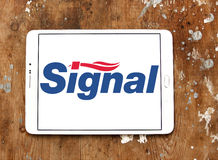 Signal toothpaste logo Royalty Free Stock Images