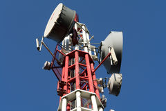 Signal tower. Used to transmit mobile, TV and various other signals royalty free stock photos