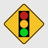 symbol signal traffic light green yellow red sign on transparent background stock illustration