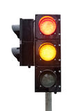 signal of the traffic light in isolation Royalty Free Stock Photography