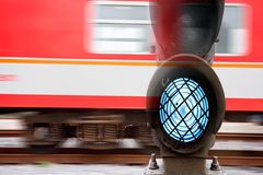 Signal and train Royalty Free Stock Photography