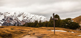 Signal for trekking path Royalty Free Stock Photo