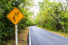 Signal turn right on country road, Traffic Signs Stock Image