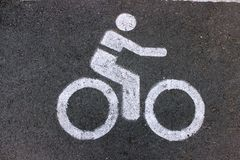 Signal the way of bicycle Stock Image