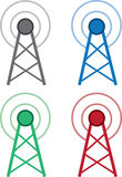 Signal Wifi Tower Colors Stock Image