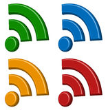 Signal wireless connection, wifi, wireless internet signs, sym Stock Images