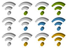 Signal wireless connection, wifi, wireless internet signs, sym Royalty Free Stock Photo