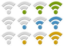 Signal wireless connection, wifi, wireless internet signs, sym Royalty Free Stock Image
