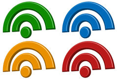 Signal wireless connection, wifi, wireless internet signs, sym Royalty Free Stock Photography