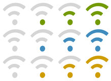 Signal wireless connection, wifi, wireless internet signs, sym Royalty Free Stock Photos
