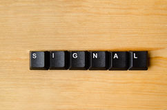 Signal word Royalty Free Stock Image