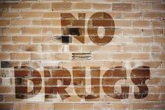 Signaleer geen drugs Stock Foto