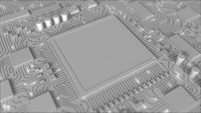 Signalen op spatie chipset Conceptuele 3D loopable animatie stock illustratie