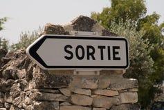 Signaler, symboler och objekt på vägen i Frankrike Royaltyfri Bild