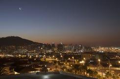Signalera kullen och ljusen av Cape Town S Afrika Royaltyfri Bild