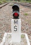 Signalerandeutrustning på järnväg Arkivfoton