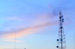 signalering för antennoklarhetsmedelberg royaltyfri fotografi
