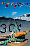 signalering för flaggamarinship Royaltyfria Bilder