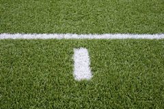 Signalering på fotbollfält arkivfoto