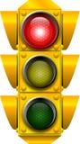 signaleringsstopptrafik royaltyfri illustrationer
