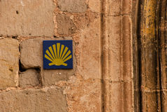 Signaling Camino de Santiago Royalty Free Stock Photography