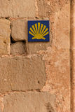Signaling Camino de Santiago Royalty Free Stock Photo