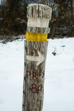 Signaling paths. Signaling a hiking trail short Stock Image