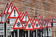 Signalisation allemande Photographie stock libre de droits