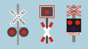 Signalisation de voie ferrée images libres de droits