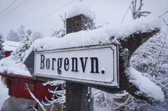 Signalisation en Norvège Images libres de droits